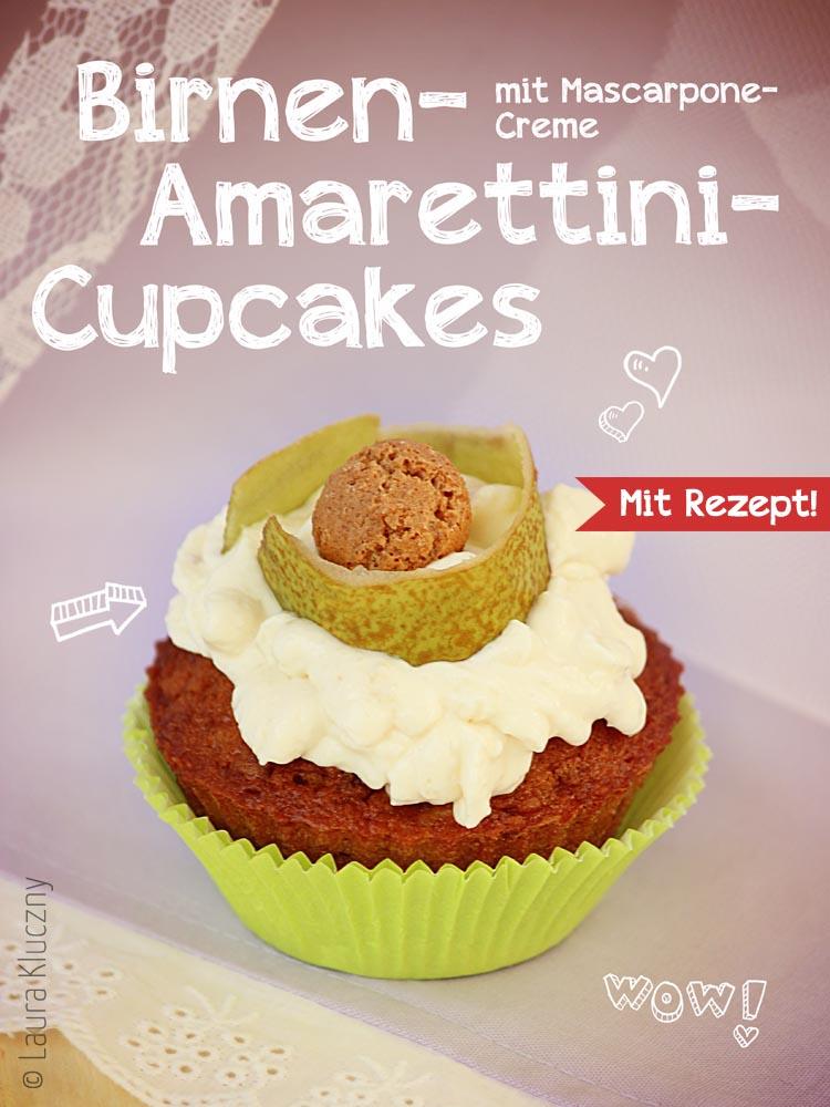 Birnen-Amarettini-Cupcakes mit Rezept