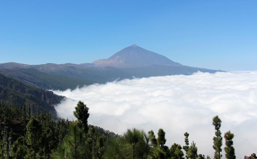 Wolkenberge und der Pico del Teide