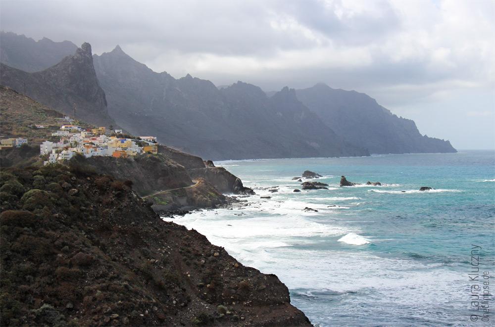 Nordostküste von Teneriffa in Taganana