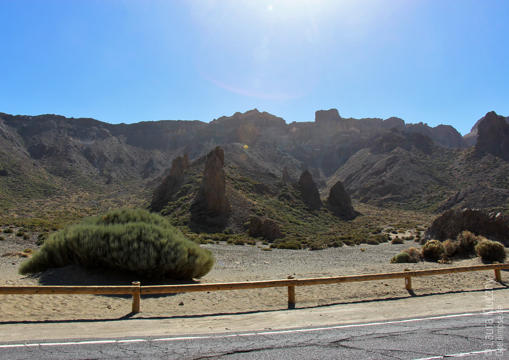 Berglandschaft auf der Rückfahrt