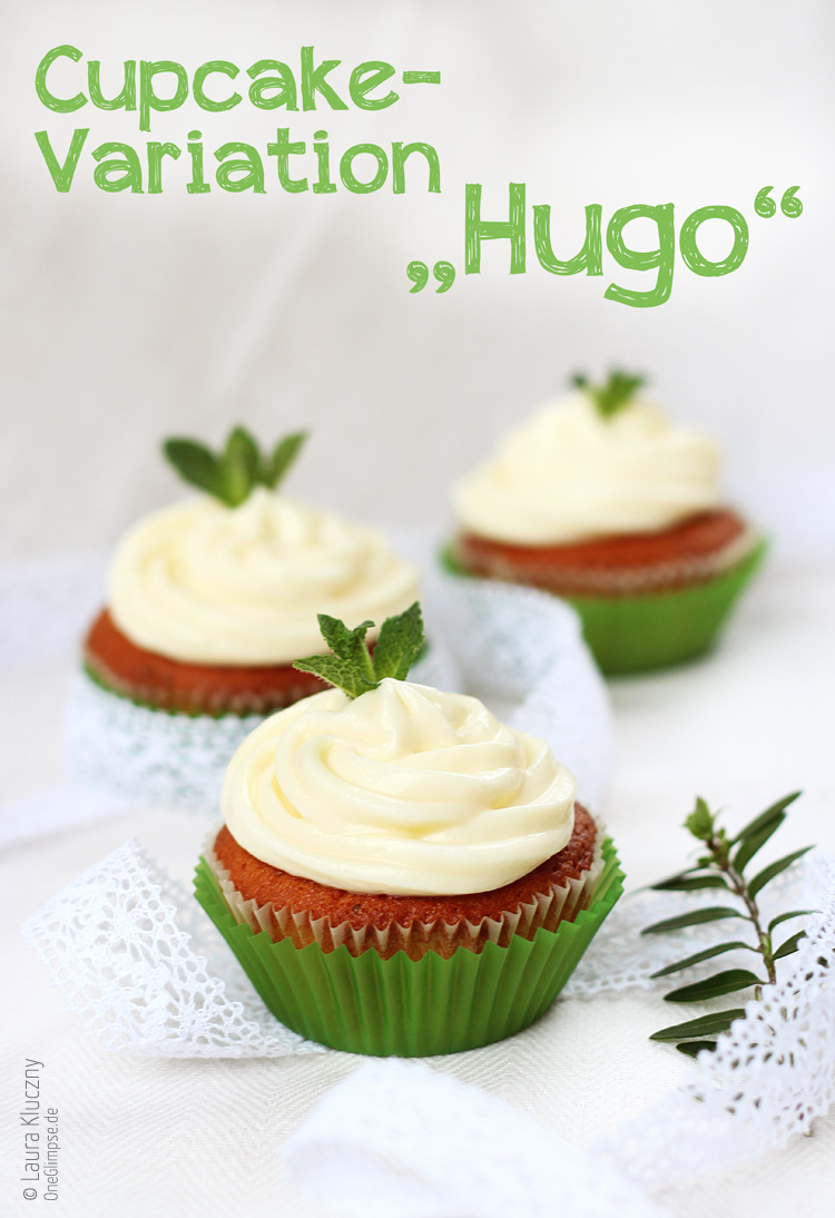 Cupcake-Variation: Cocktail Hugo
