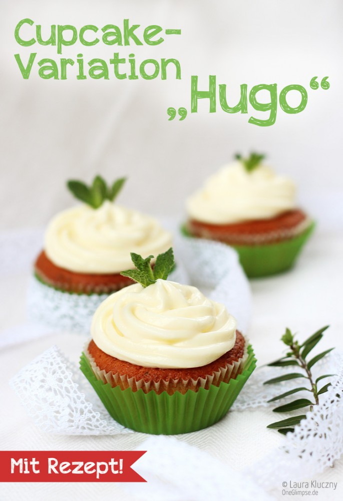 Cupcake-Variation: Cocktail Hugo