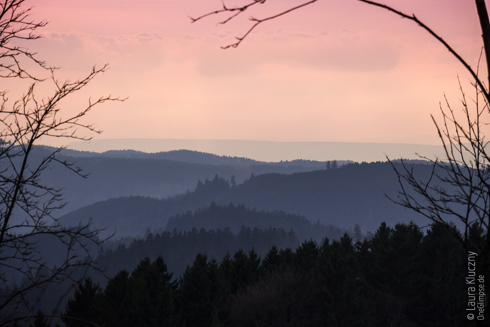 Sonnenuntergang in St. Andreasberg, Harz