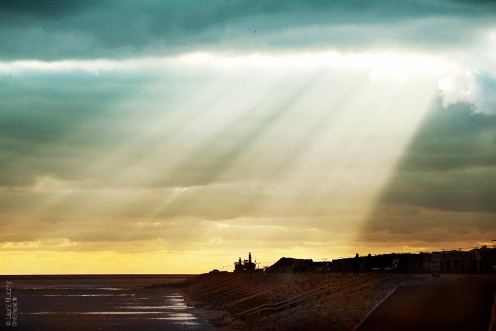 Sonnenuntergang an der Nordsee, Büsum