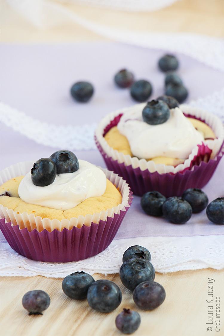 heidelbeer honig joghurt cupcakes one glimpse. Black Bedroom Furniture Sets. Home Design Ideas