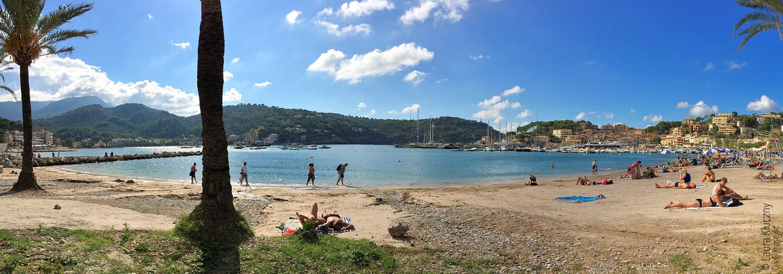 Mallorca, am Strand von Port de Sóller