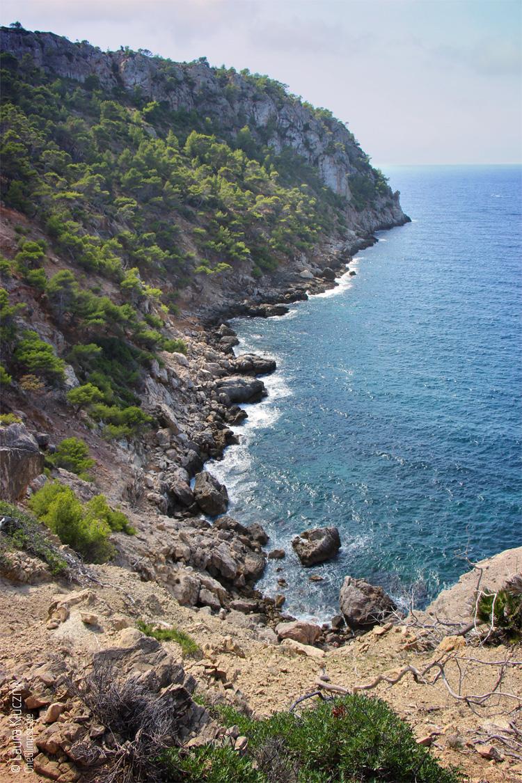 Mallorca, Sant Elm, Steilküste: Blick aufs Meer