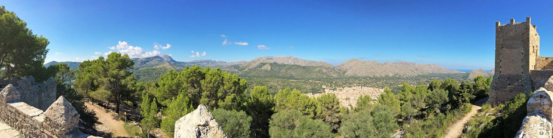 Ausblick von der Puig de Maria, Pollenca, Mallorca