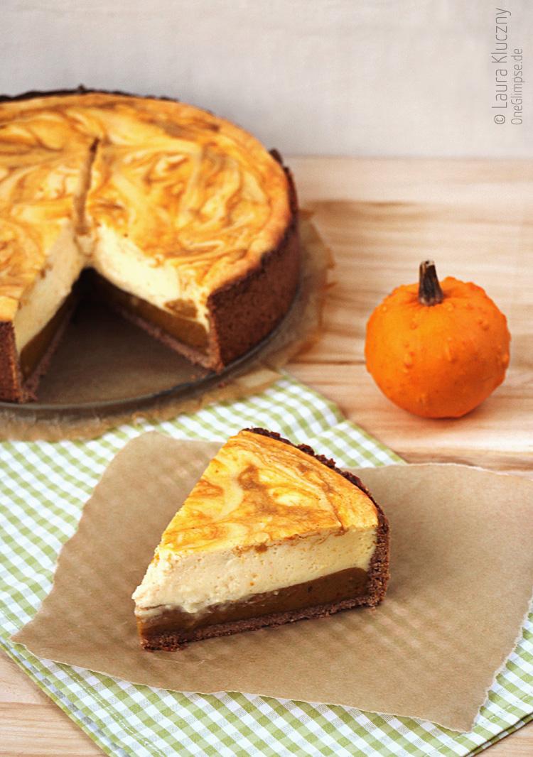 Pumpkin Pie Orangen-Käsekuchen mit Rezept zum Nachbacken