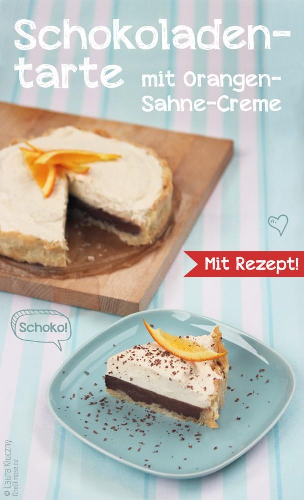 Schokoladentarte mit Orangen-Sahne-Creme, mit Rezept