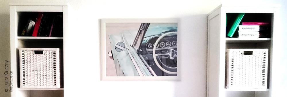 Poster vom eigenen Foto im Wohnzimmer: Dodge Polara 500 von der Street Mag Show 2014 in Hamburg