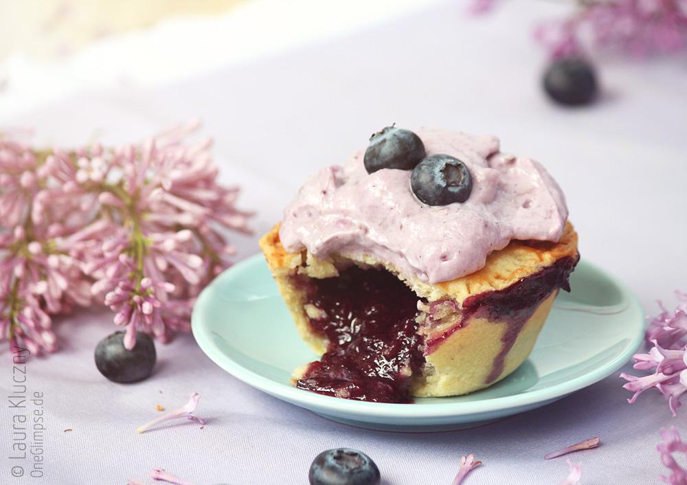 Double Blueberry Pie Cupcakes: unglaublich leckere Füllung :)