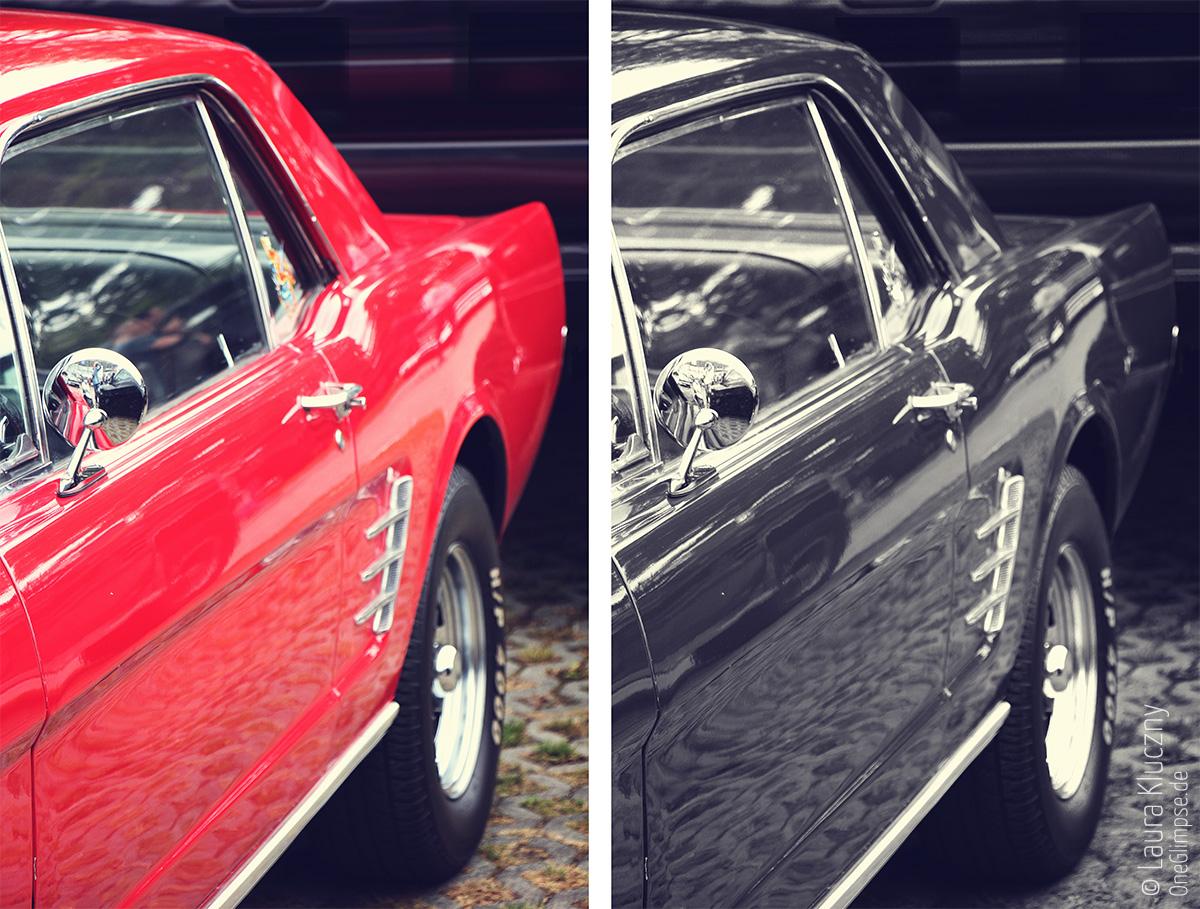 Street Mag Show 2015 in Hamburg: Ford Mustang Rot und Schwarzweiß