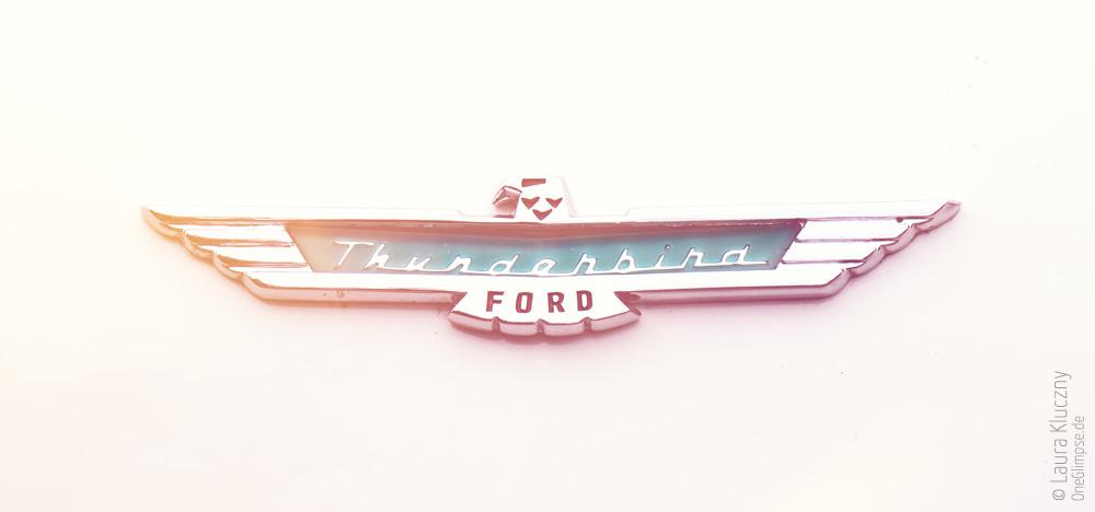 Street Mag Show 2015 in Hamburg: Ford Thunderbird Emblem