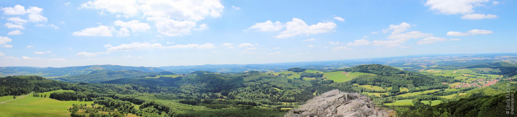 Rhön: Milseburg auf dem Gipfel, Panorama