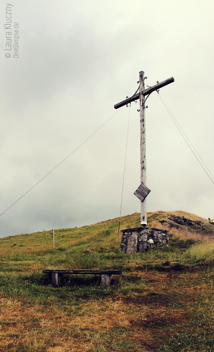 Beweisfoto :D Gipfelkreuz des Pferdskopf, Rhön