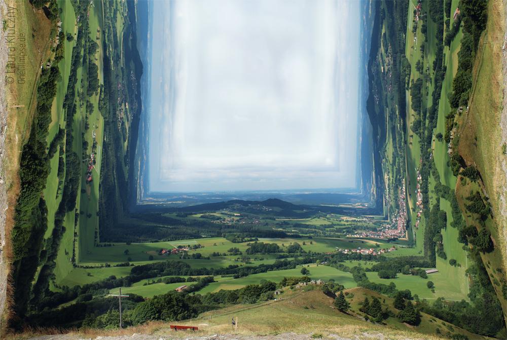 Die Rhön im Kastenformat: Landschaftskasten erstellt mit Photoshop