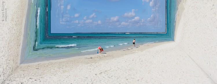 Mallorca: Strand Es Trenc zum Landschaftskasten moduliert