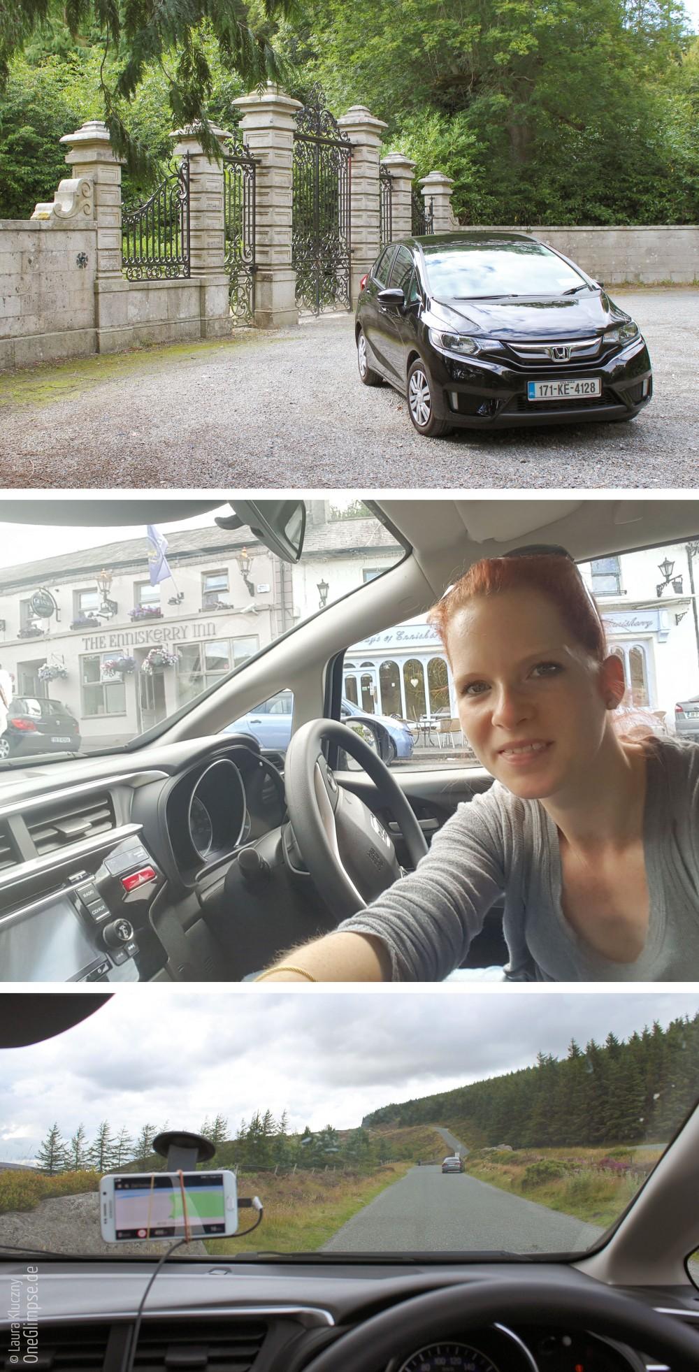 Mietwagen auf Irland, Enniskerry, Selbstbau: Handy-Navi