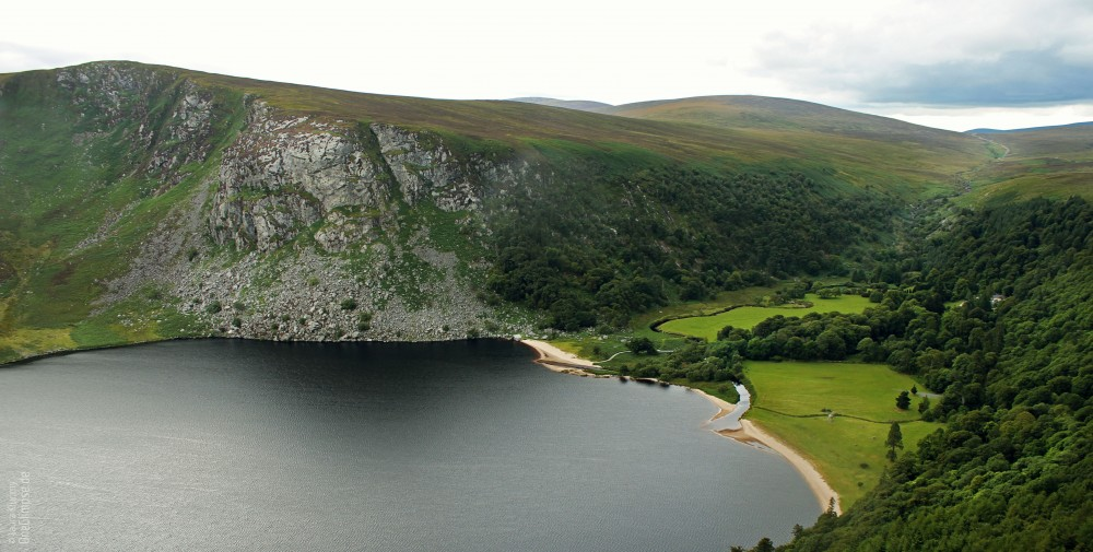 The Guiness Lake (Lough Tay), Wicklow Mountains, Irland