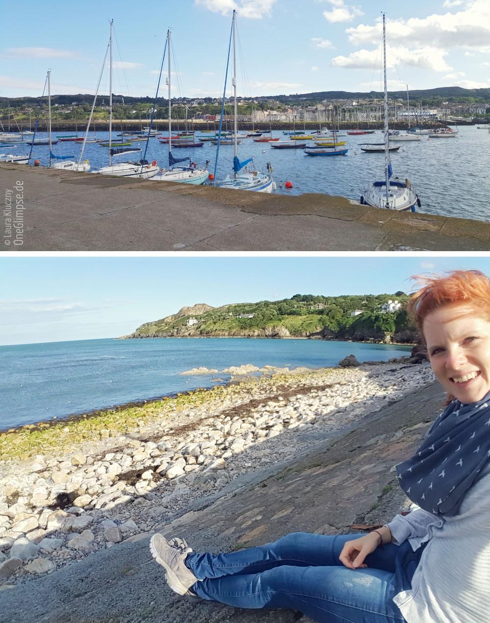 Howth Hafen Sonnenuntergang Schiffe