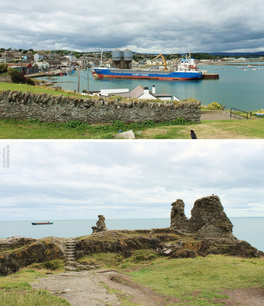 Wicklow Hafen, Kanonen, Mittelalter, Black Castle: Ruine an der Klippe