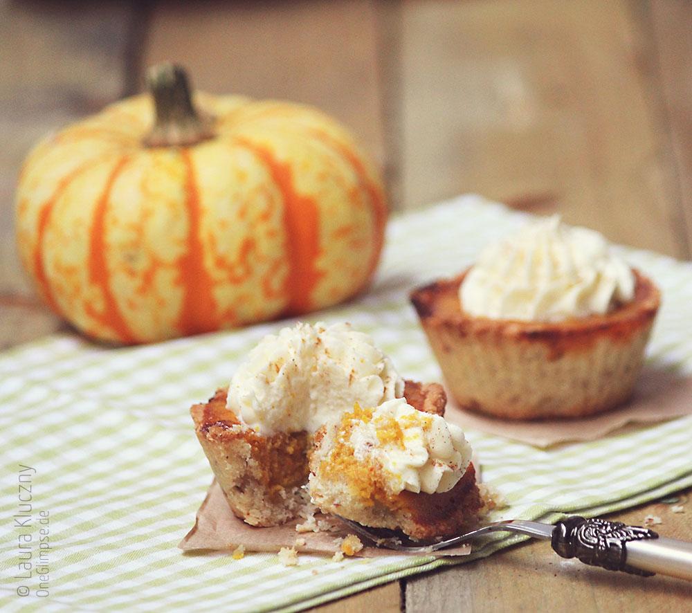 Mini-Pumpkin-Pies mit Marzipancreme