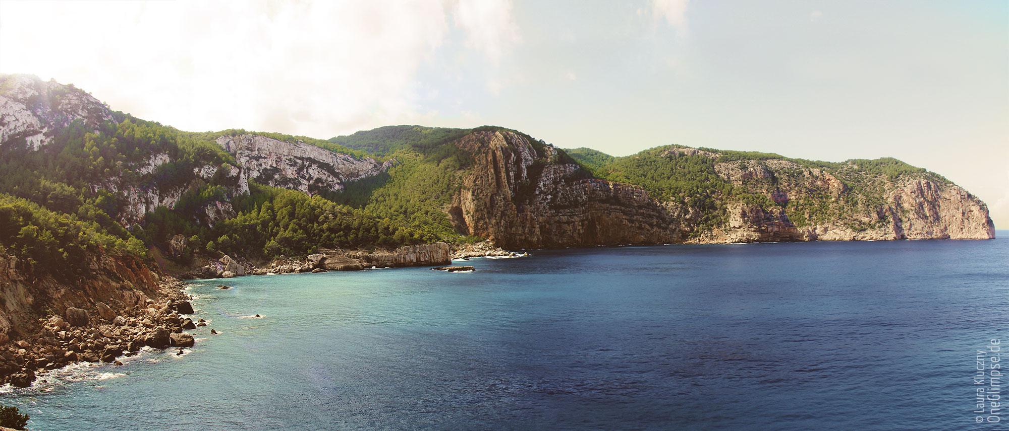 Luminanzmaske – Ibiza Steilküste