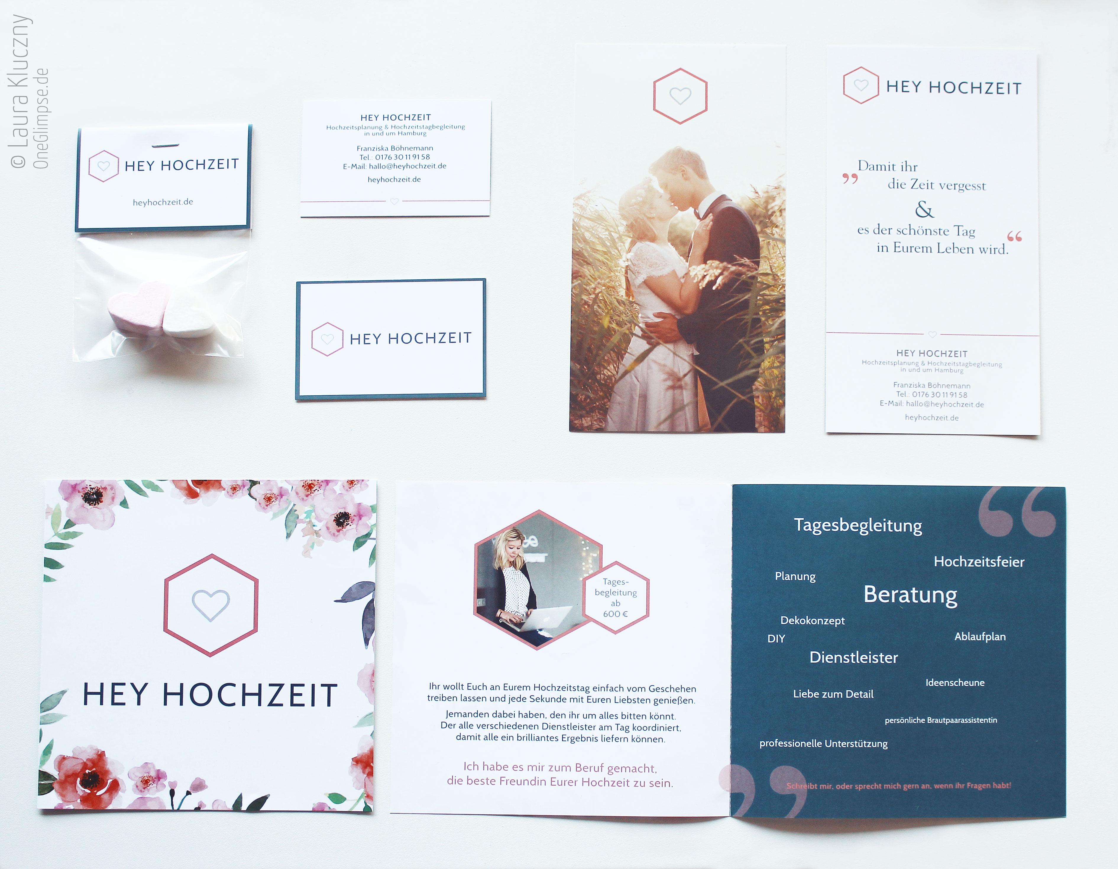 Hey Hochzeit – Corporate Design: Visitenkarte, Flyer / Hochzeitsbegleitung Hamburg