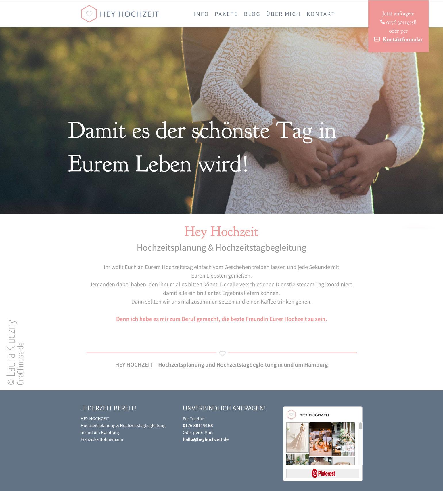 Website Hey Hochzeit – Hochzeitstagsbegleitung