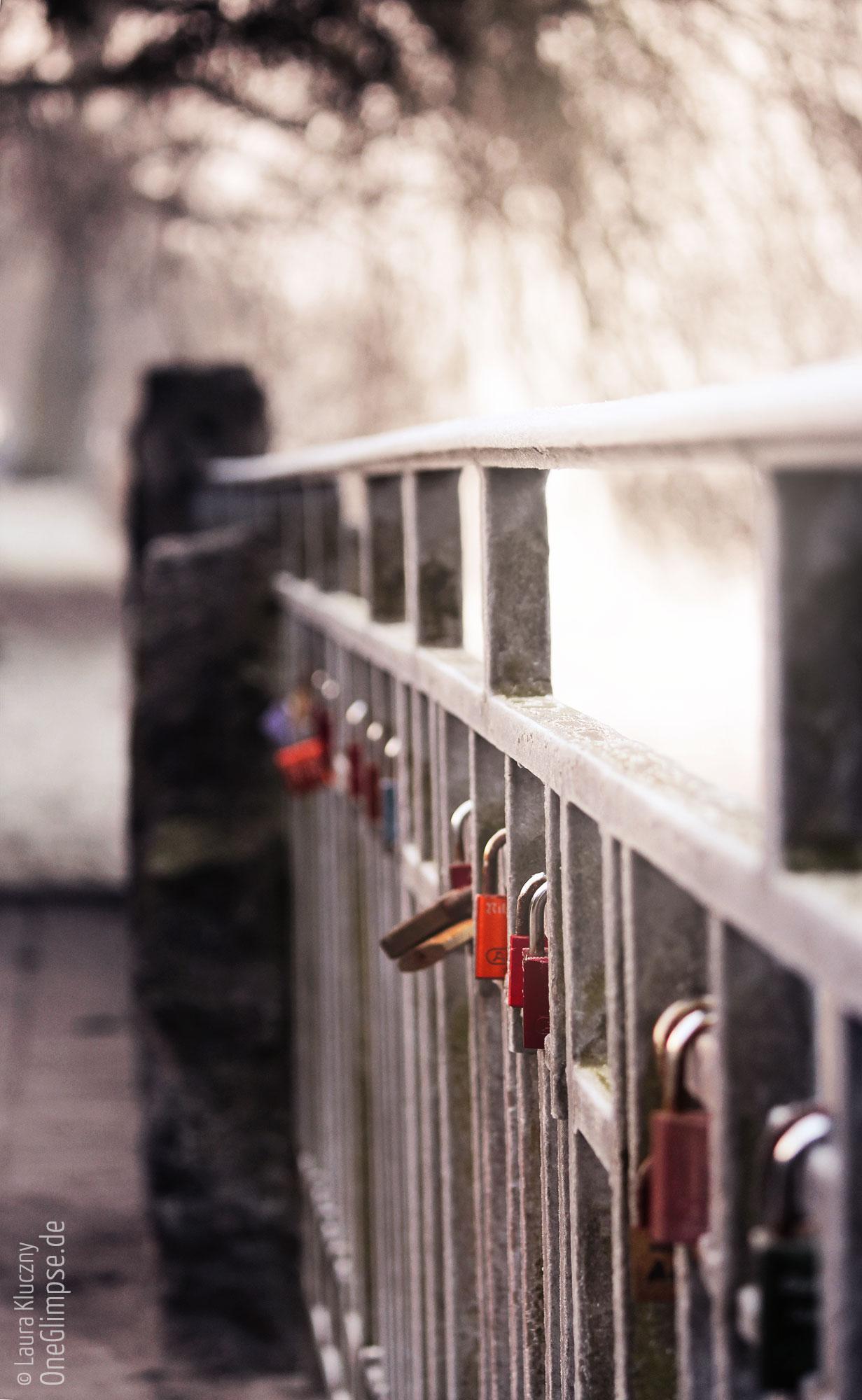 Alster in Hamburg: Liebesschlösser bei Frost