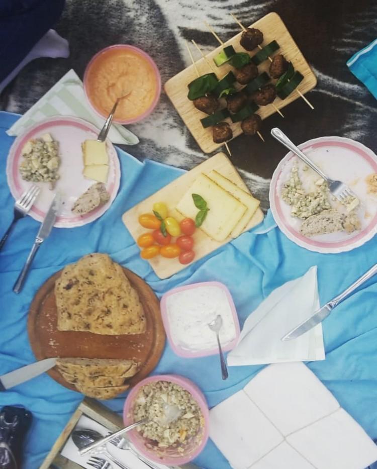 Das Waldpicknick-Menü