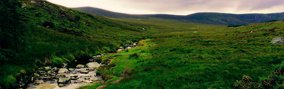 Allein durch Irland, grüne Insel, Luminanzmaske
