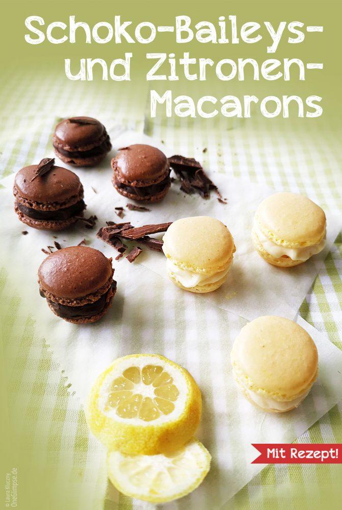 Erste Macarons Schoko Baileys Zitrone
