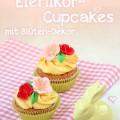 Schokoladige Eierlikör-Cupcakes mit Blüten-Dekor, Rezept