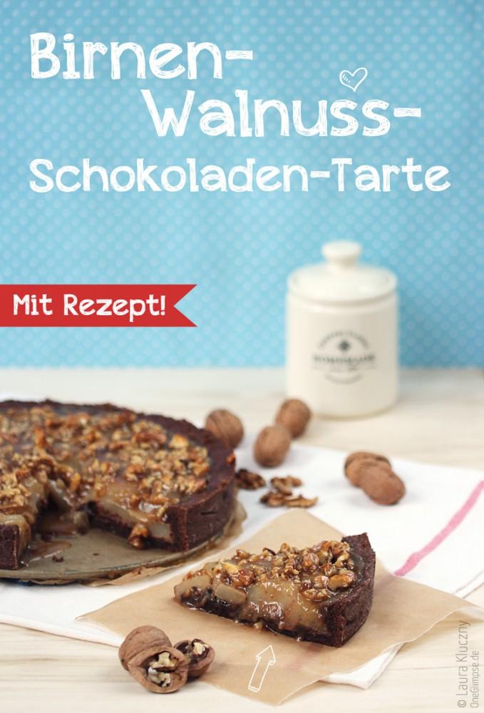 Birnen-Walnuss-Schokoladen-Tarte mit Rezept